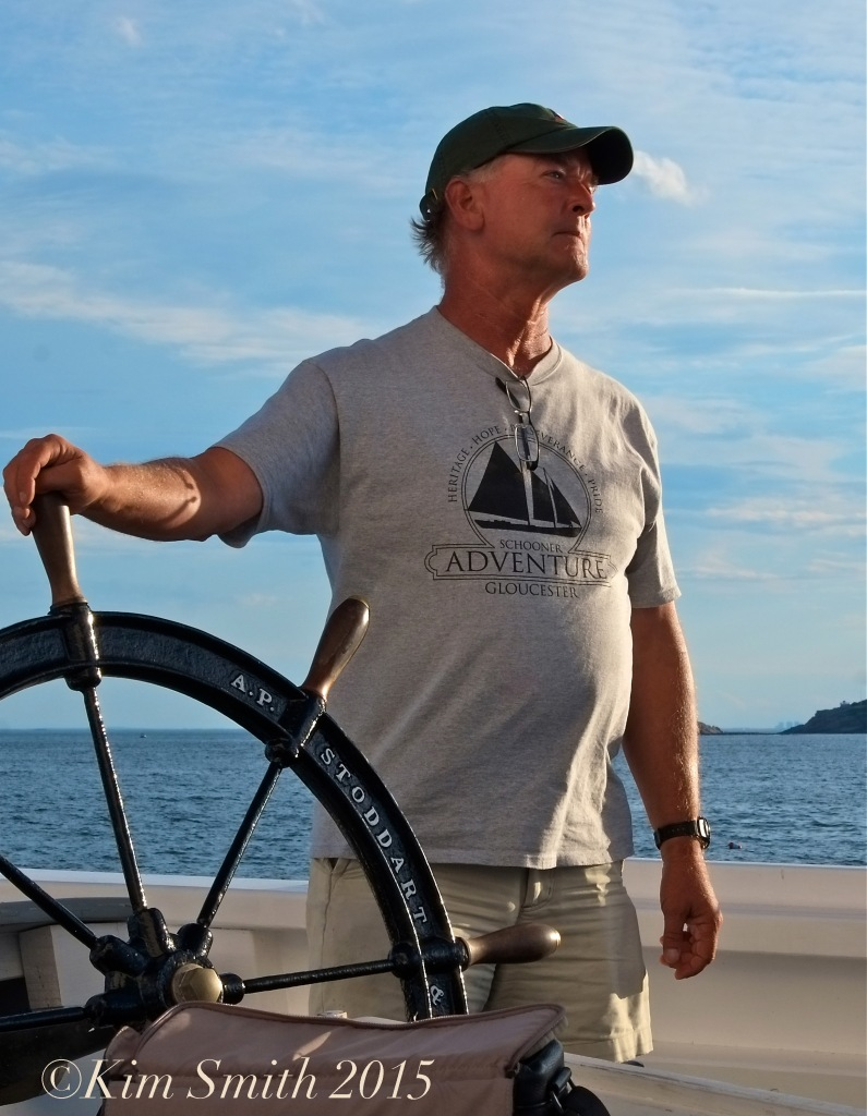Captain Stefan Edick Schooner Adventure Gloucester August 5th -17 ©Kim Smith 2015