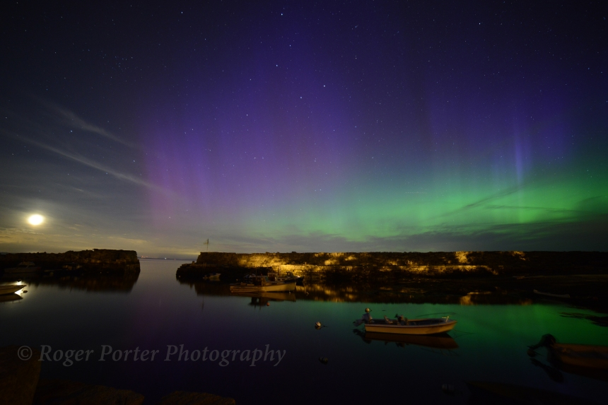 Northern Lights over Lanes Cove by Roger Porter of GAAC