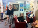 Owner Cynthia Belchou with Artist Eileen Oliver