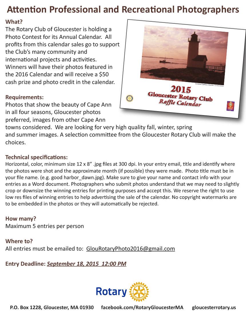 Rotary Calendar Photo Request 2015a