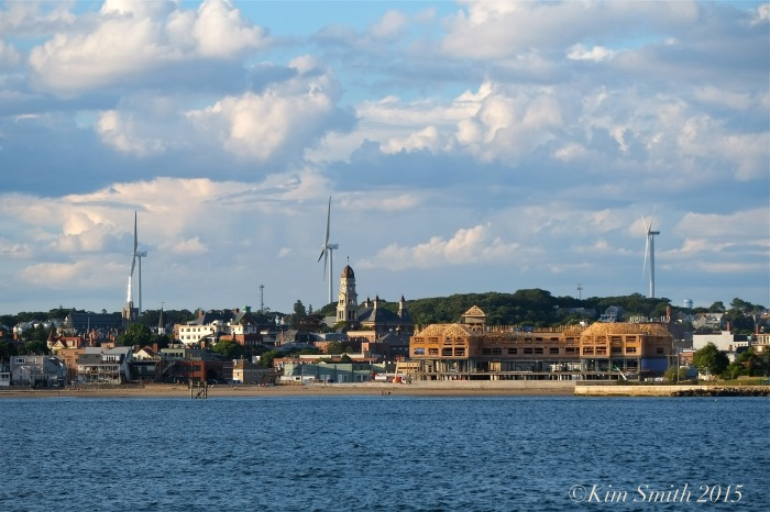Schooner Adventure Gloucester August 5th City skyline ©Kim Smith 2015