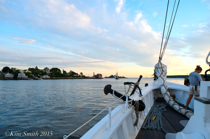 Schooner Adventure Gloucester August 5th Paint Factory ©Kim Smith 2015