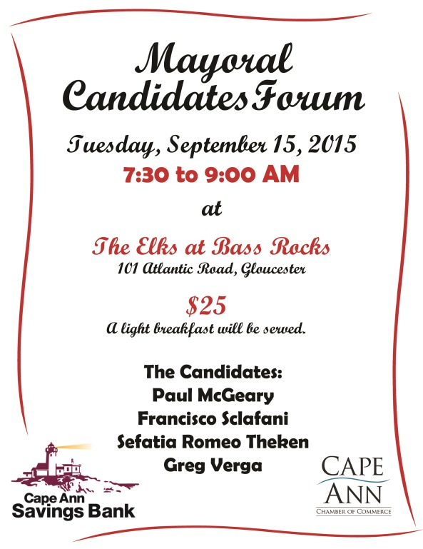 2015 Mayoral Debate Flyer