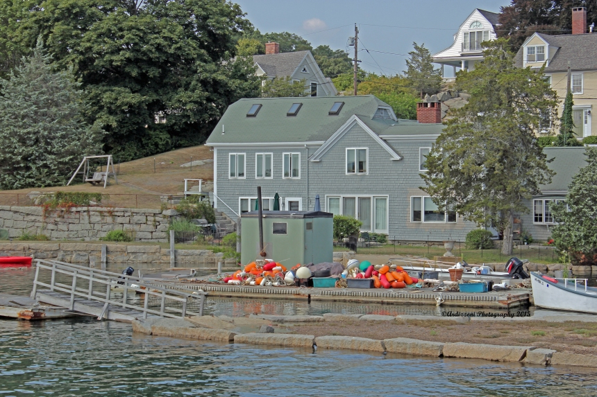 August 31, 2015 dock full of buoys