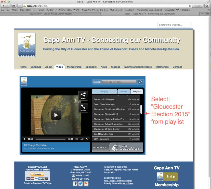 CATV video page