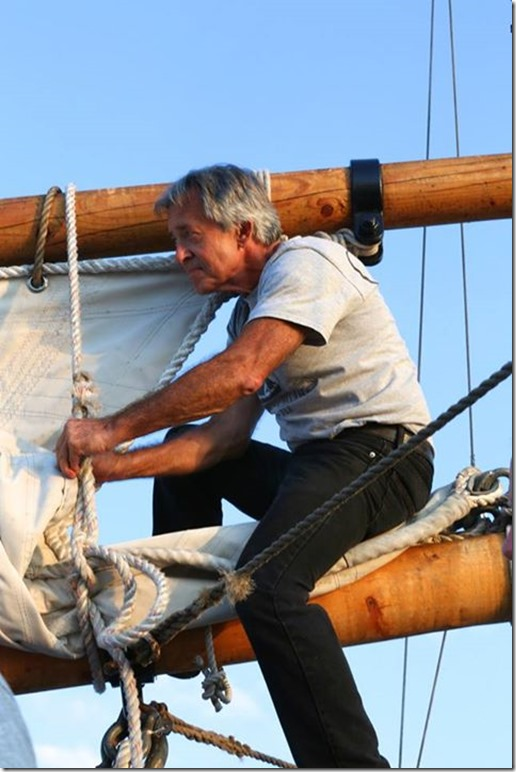 Cowboying the Foresail