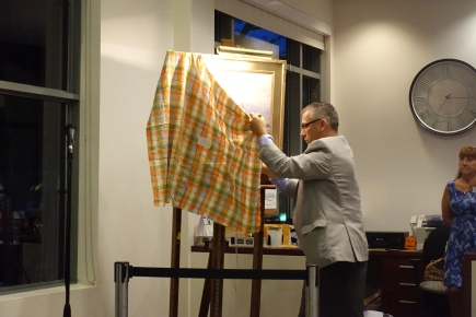Unveiling Painting for Auction