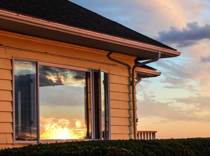 harbor sunset reflection