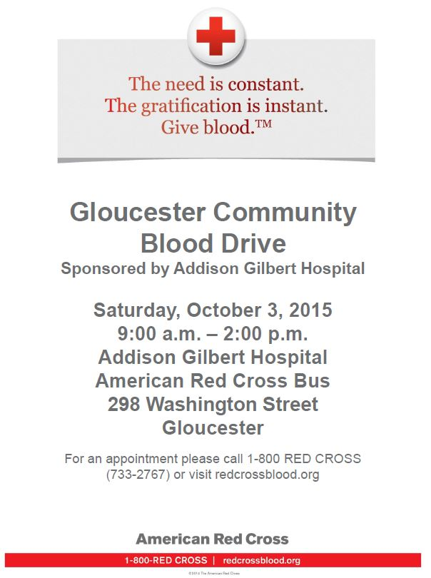October 3rd Blood Drive