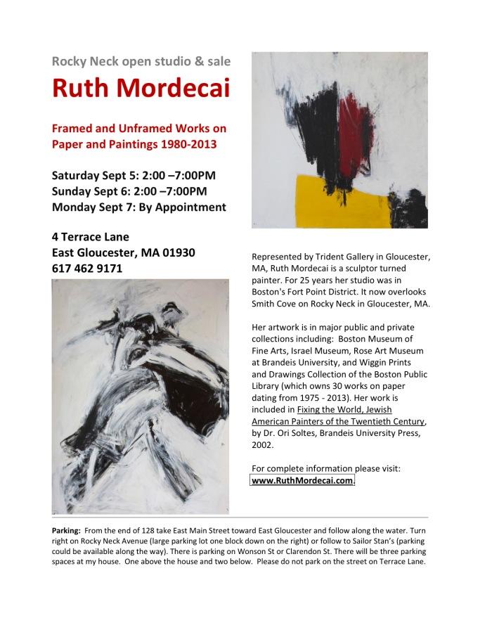 ruth mordecai open studio 2015