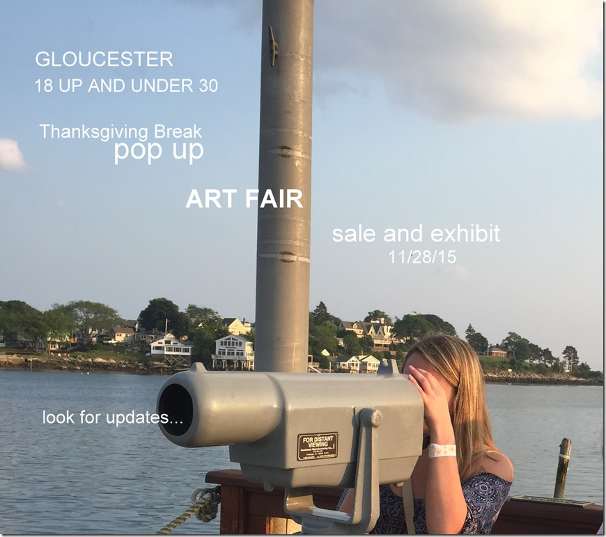 Save the date pop up art fair for gloucester college
