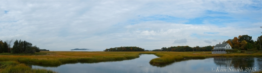 Essex Salt Marsh Great Marsh Panorama ©Kim Smith 2015