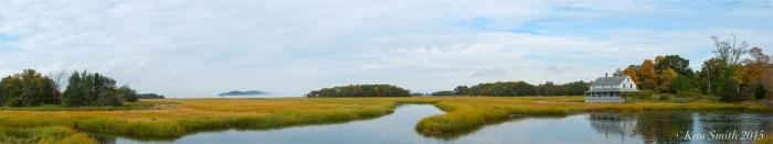 Essex Salt Marsh Great Marsh Panorama wide ©Kim Smith 2015