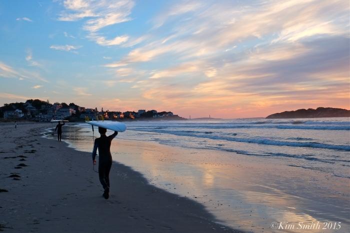 Gloucester Good Harbor Beach surfers -2 ©Kim Smith 2015