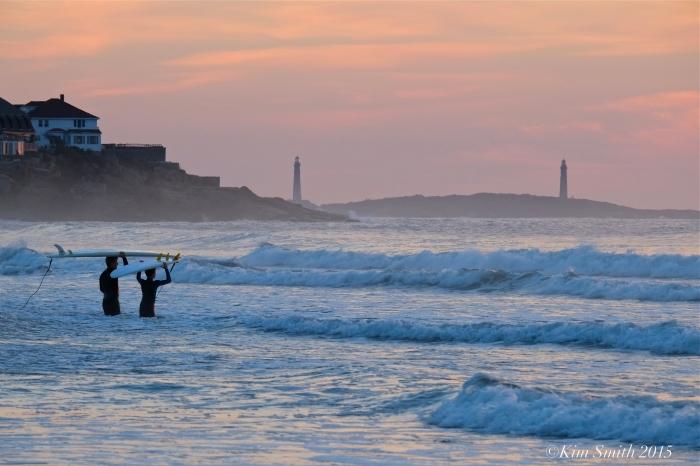 Gloucester Good Harbor Beach surfers ©Kim Smith 2015