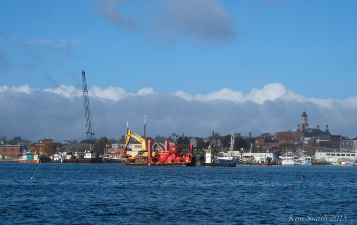 Gloucester harbor dredging ©Kim Smith 2015
