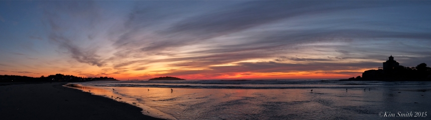 Good Harbor Beach Panorama Sunrise -1 ©Kim Smith 2015