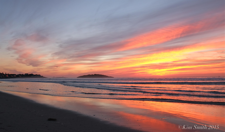 GOOD HARBOR BEACH SUNRISE PANORAMAS AND SURFERS ...