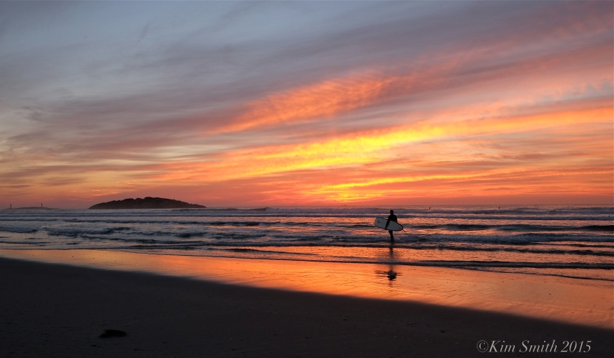 Good Harbor Beach sunrise surfer ©Kim Smith 2015JPG