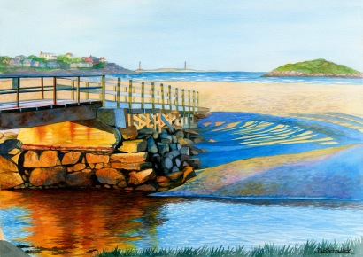 Good Harbor Footbridge by Deb Schradieck