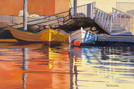 Morning Dories by Deb Schradieck