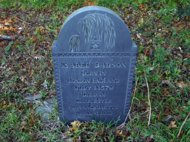 October 10, 2015 Isabel Babson headstone
