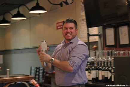 October 21, 2015 Matt Restaurant Manager shaking up a Dogtown Sour
