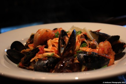 October 21, 2015 Shrimp & Mussels Fra Diavolo