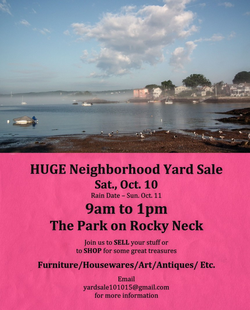 rocky neck yard sale