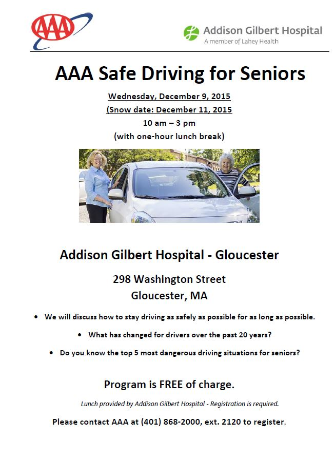 AAA & AGH Safe Driving Class
