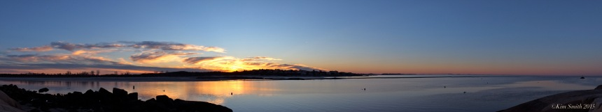 Annisquam River panorama sunset ©Kim Smioth 2015