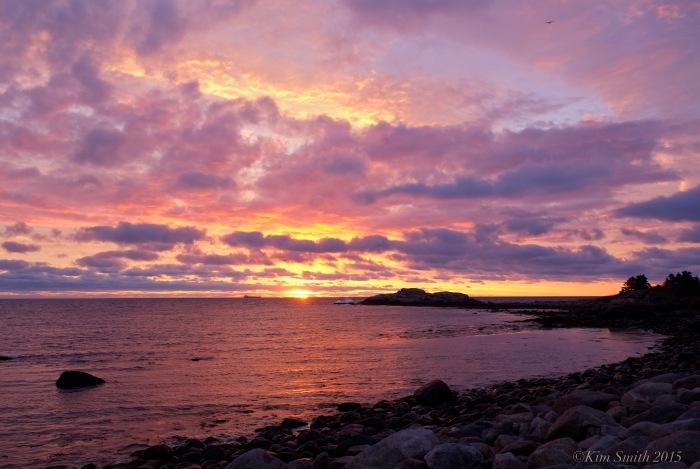 Brace Cove Gloucester sunrise ©Kim Smith 2015