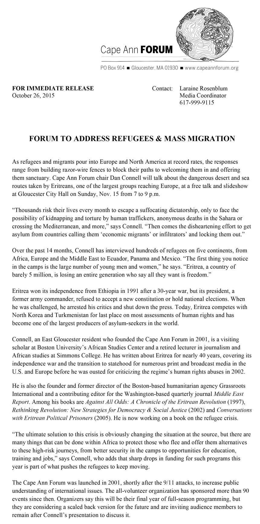 cape ann forum_refugees