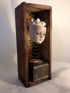 """""""Spring Forth"""" mixed media sculpture by Pam Cortleigh"""