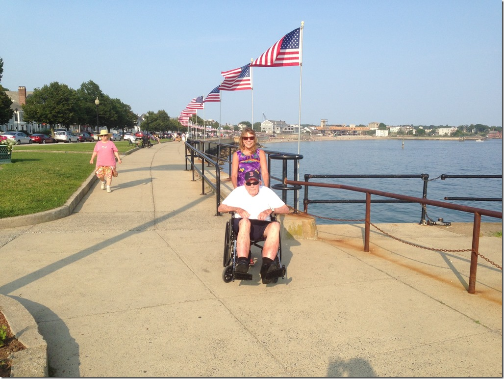 Dad's first wheelchair ride in Gloucester (1)