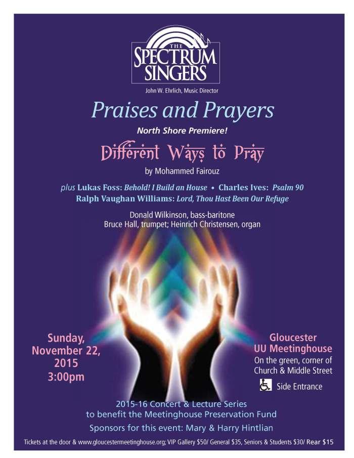 Gloucester Meetinghouse, Spectrum Singers, letter flyer