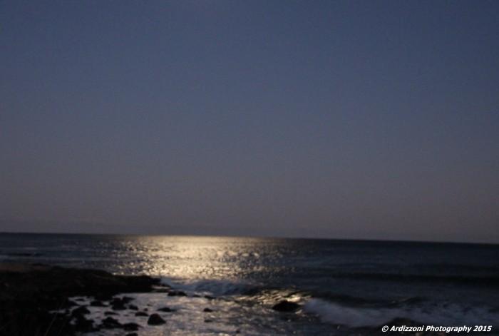 November 23, 2015 moon's reflection