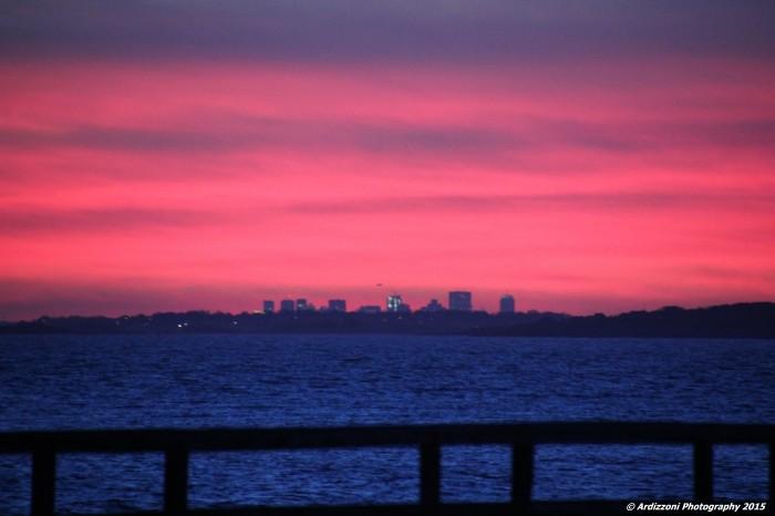 November 27, 2015 Red sky over Magnolia Pier