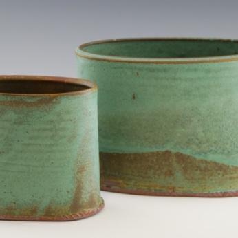 Anni Melançon, OvalVases, 12x10x4D, Stoneware