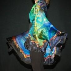 Christine Gauthier-Kelley, Bubble Nebula, Hand Painted Silk