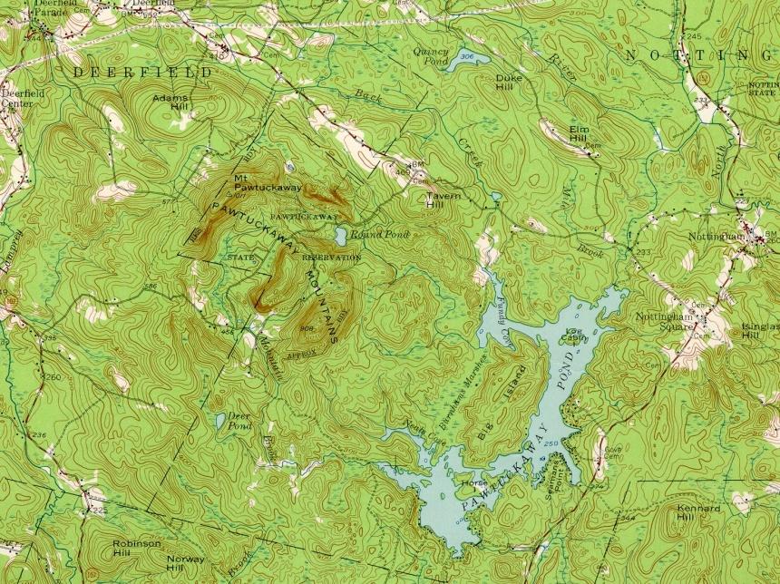 Pawtuckaway-topo
