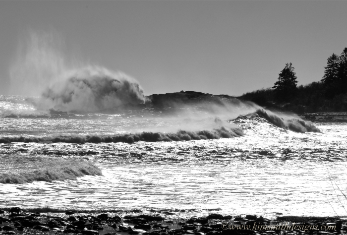 Eastern point Atlantic Ocean Waves Jonas ©www.kimsmithdesigns.com