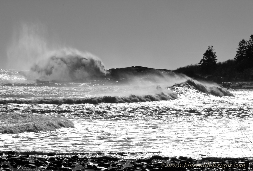 Eastern point Atlantic Ocean Waves Jonas ©www.kimsmithdesigns.com
