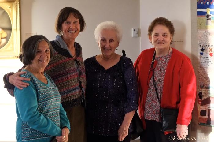 Ida, Lois, Colleen, Juni Van Dyke x Cape ann Museum The Neighborhood Quilt Project ©Kim Smith 2016