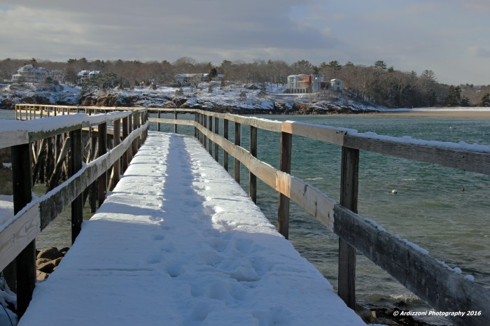 January 18, 2016 foot prints on the pier