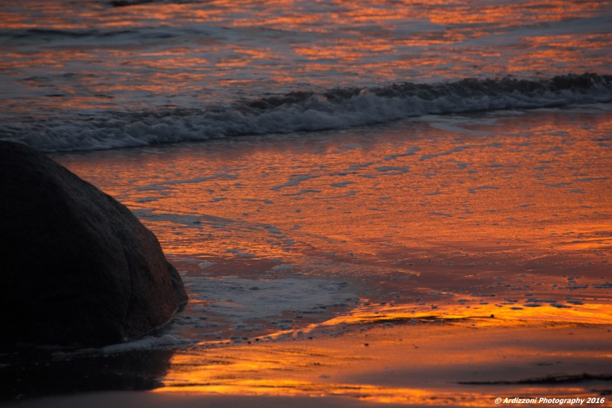 January 30, 2016 orange sand at sunset