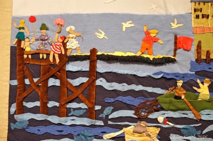 Juni Van Dyke Cape ann Museum The Neighborhood Quilt Project Detail ©Kim Smith 2016