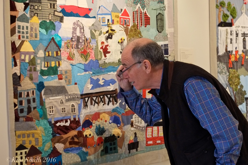 Juni Van Dyke Cape ann Museum The Neighborhood Quilt Project Pete Kovner ©Kim Smith 2016