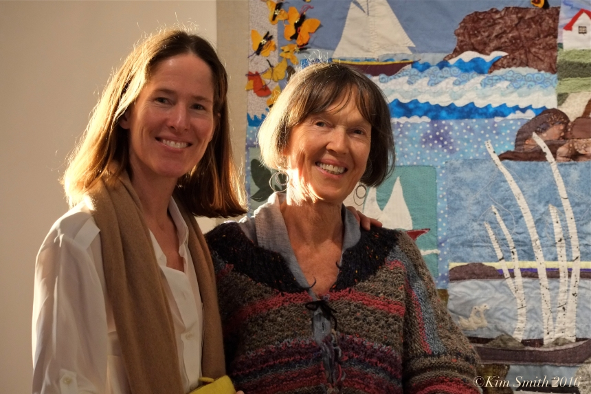 Paige and Juni Van Dyke Cape ann Museum The Neighborhood Quilt Project Detail ©Kim Smith 2016