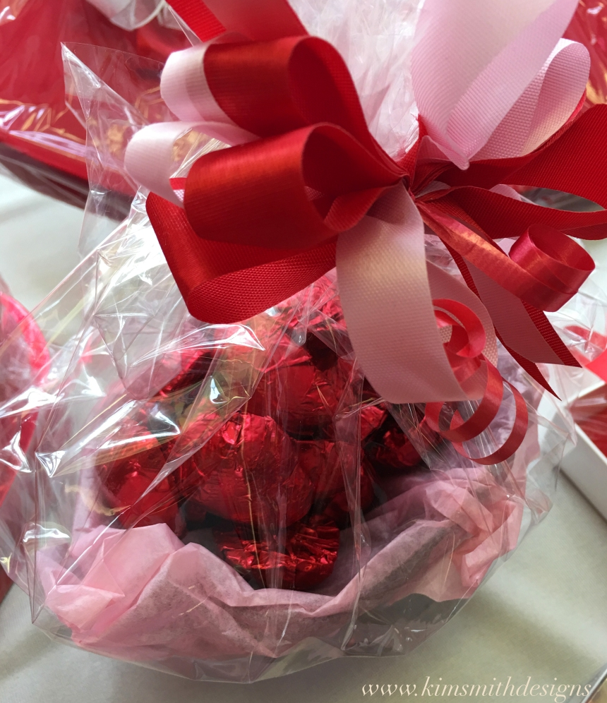 Chocolate Basket filled with hearts Nichols Candy House www.kimsmithdesigns